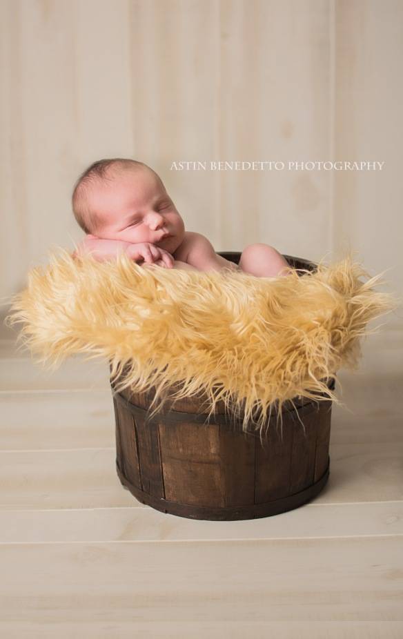 Complete~ NJ Newborn Photographer baby in bucket