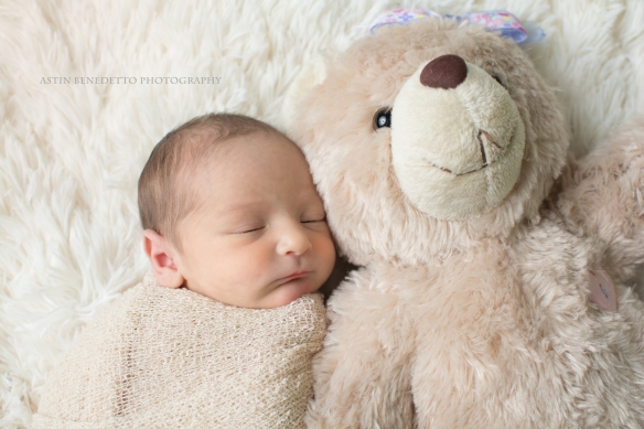 Astin-Benedetto-Photography- Warren-County-Newborn-Photographer-baby-girl-neutral-wrap-molly-bear