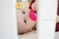 Astin Benedetto Photography-Warren County Child Photographer-baby with teether