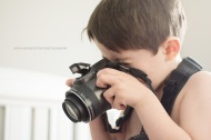 Astin Benedetto Photography-Warren County Child Photographer- boy with camera looking down