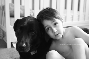 Astin Benedetto Photography-Warren County Child Photographer- boy with dog